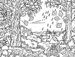 forest coloring pages a4