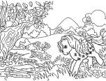 forest coloring pages animals 152x116