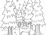 forest coloring pages for adults