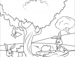 forest coloring pages for teenagers 152x116