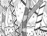 forest coloring pages for teens 152x116