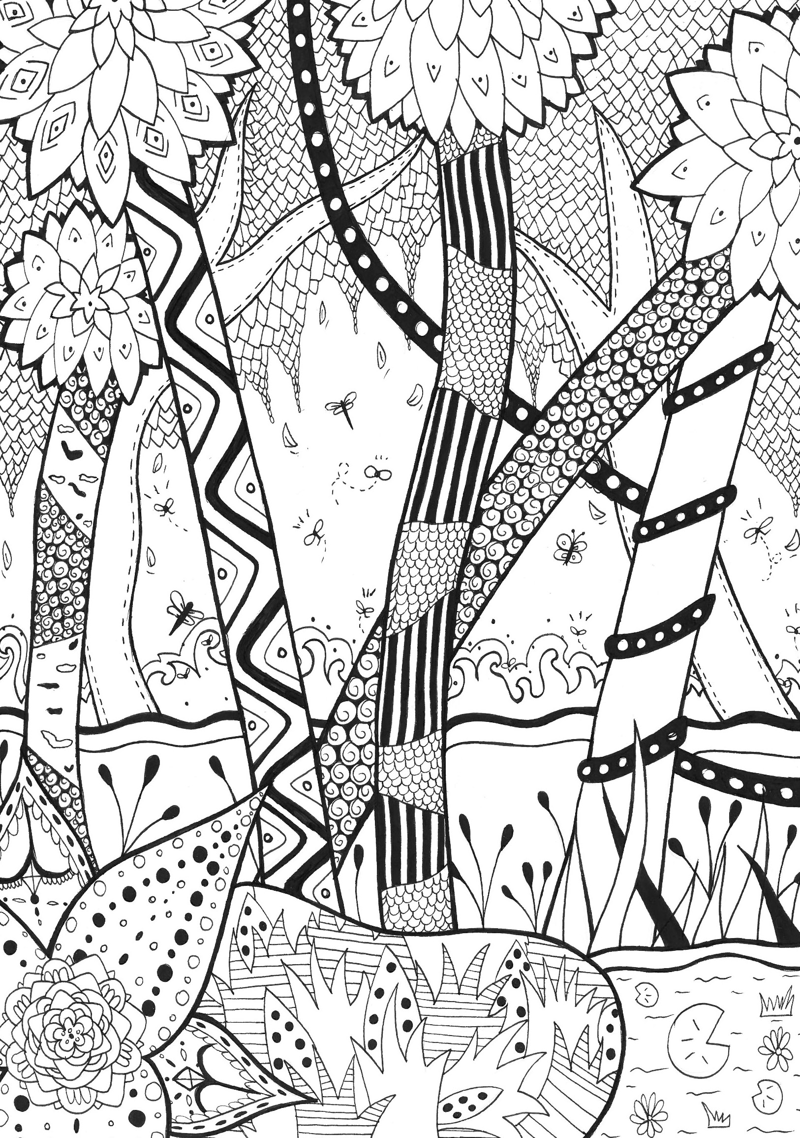 forest coloring pages for teens