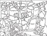 forest coloring pages free