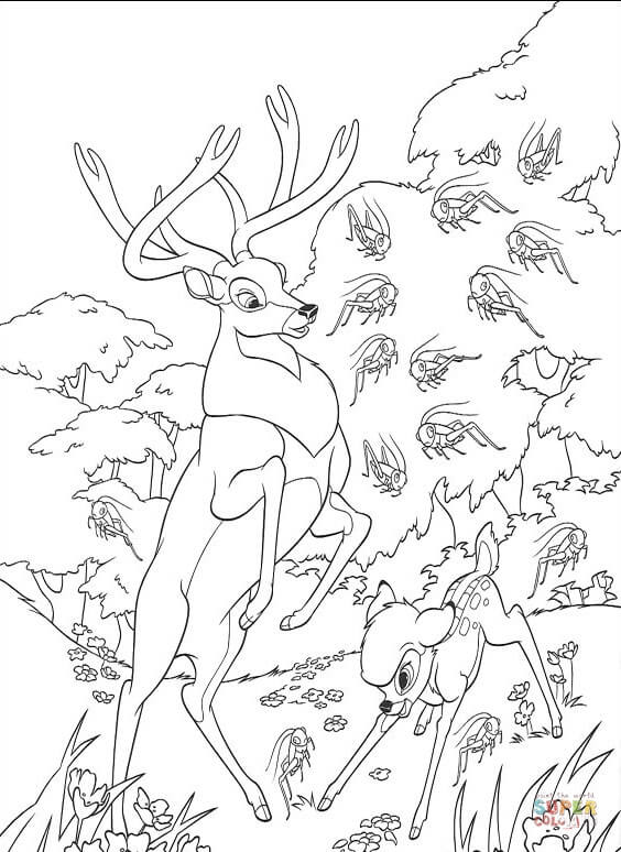 forest coloring pages printables