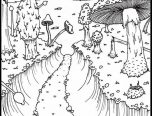 free printable forest coloring pages