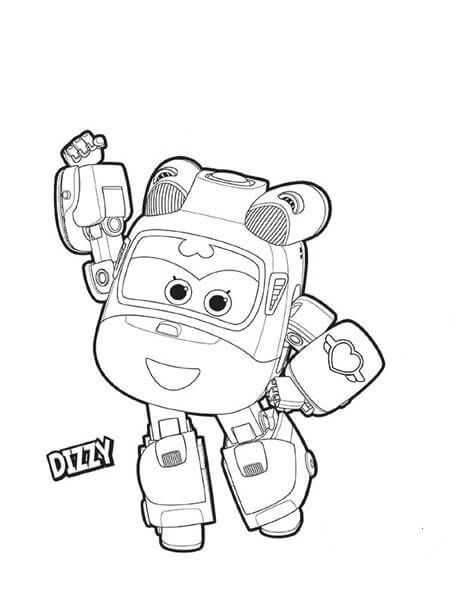 Dizzy from Super Wings Coloring Activities for Kids