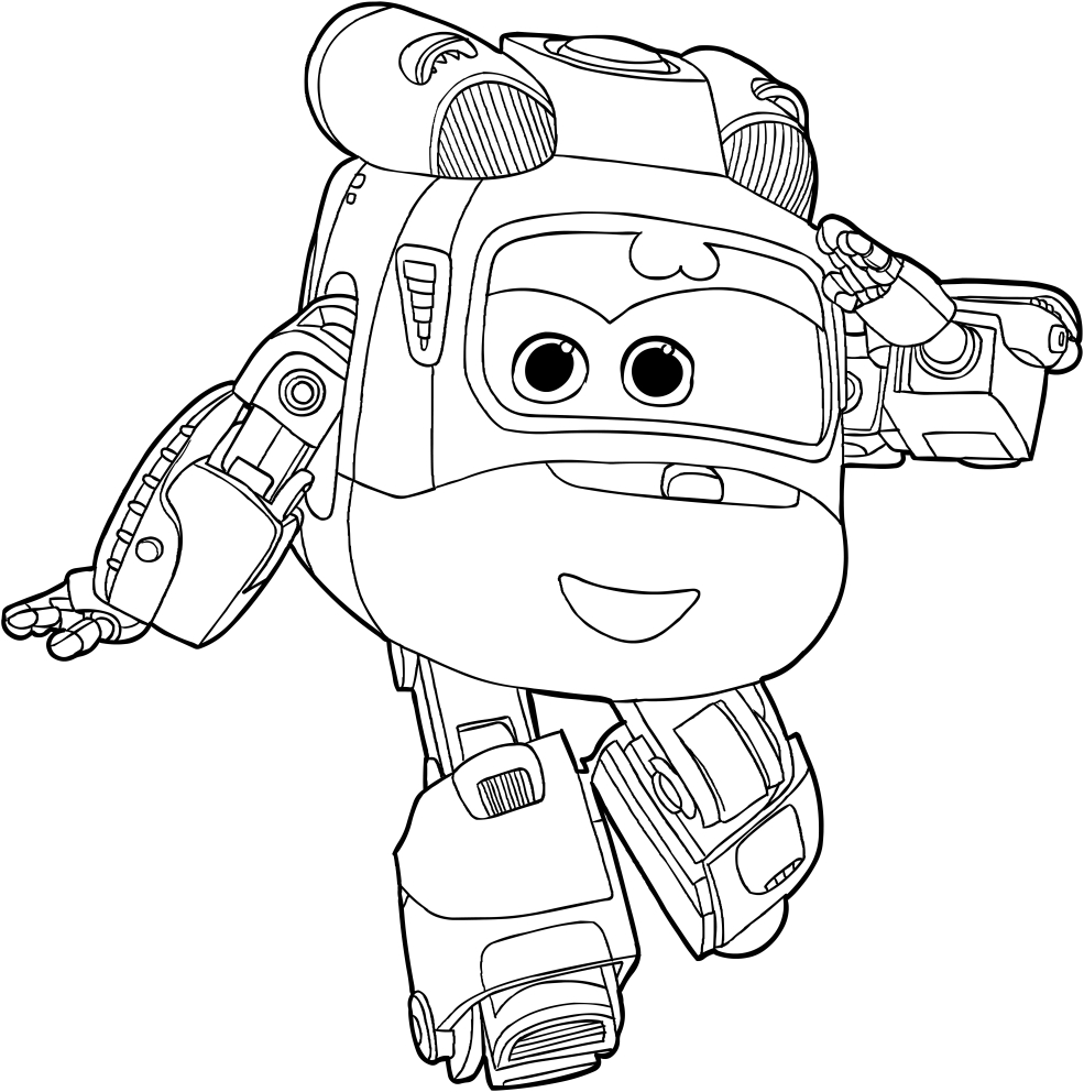 Dizzy of the Super Wings coloring page to print 1