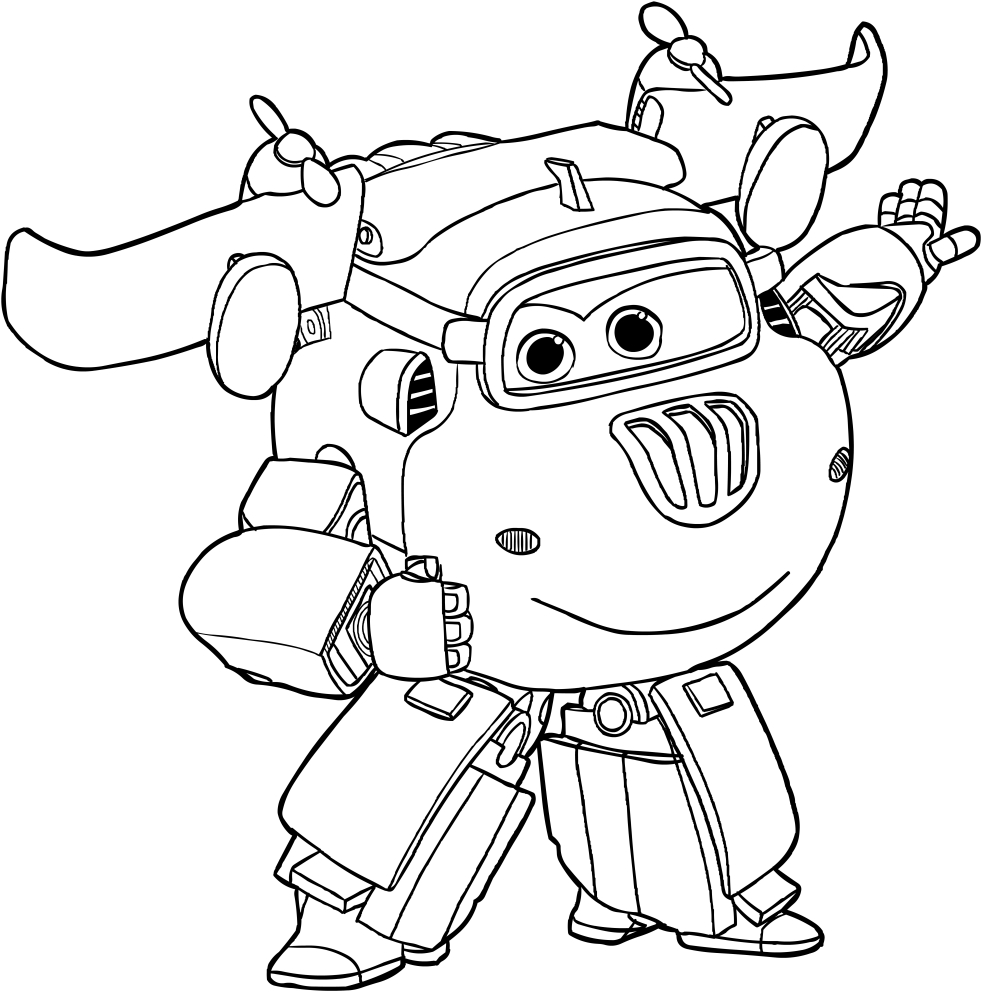 Donnie of the Super Wings coloring page