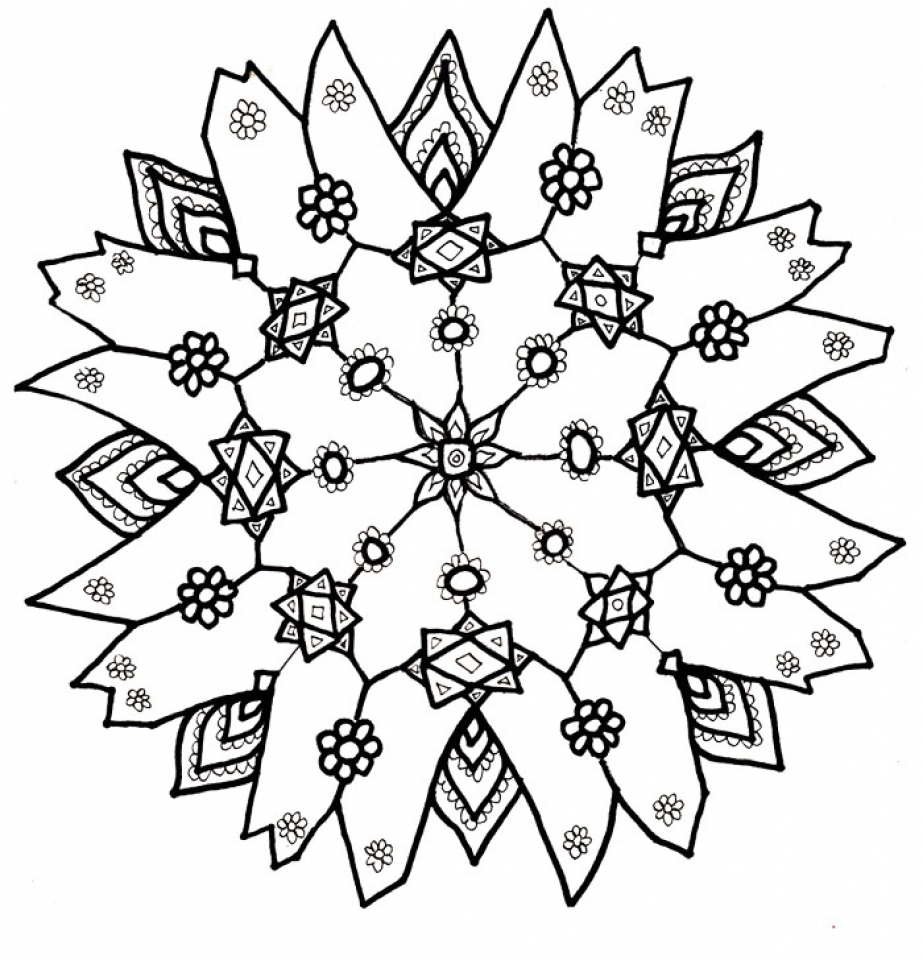 Free Snowflake Coloring Pages to Print Out