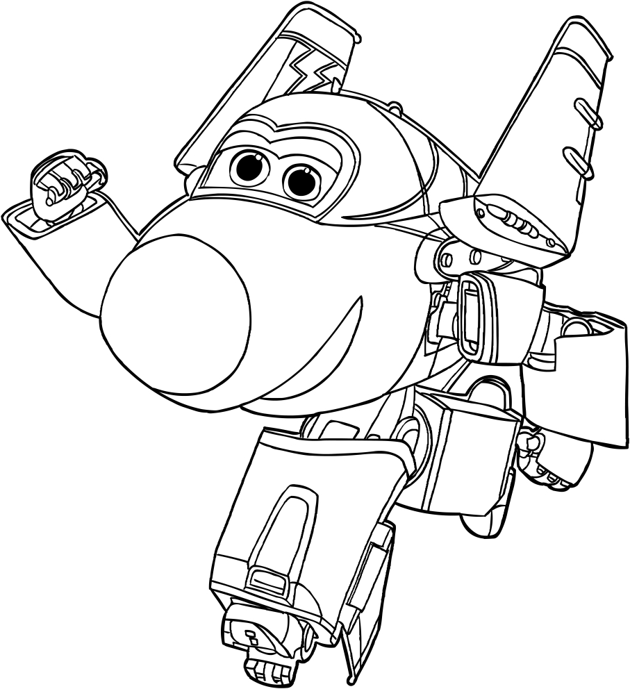 Jerome of the Super Wings coloring page