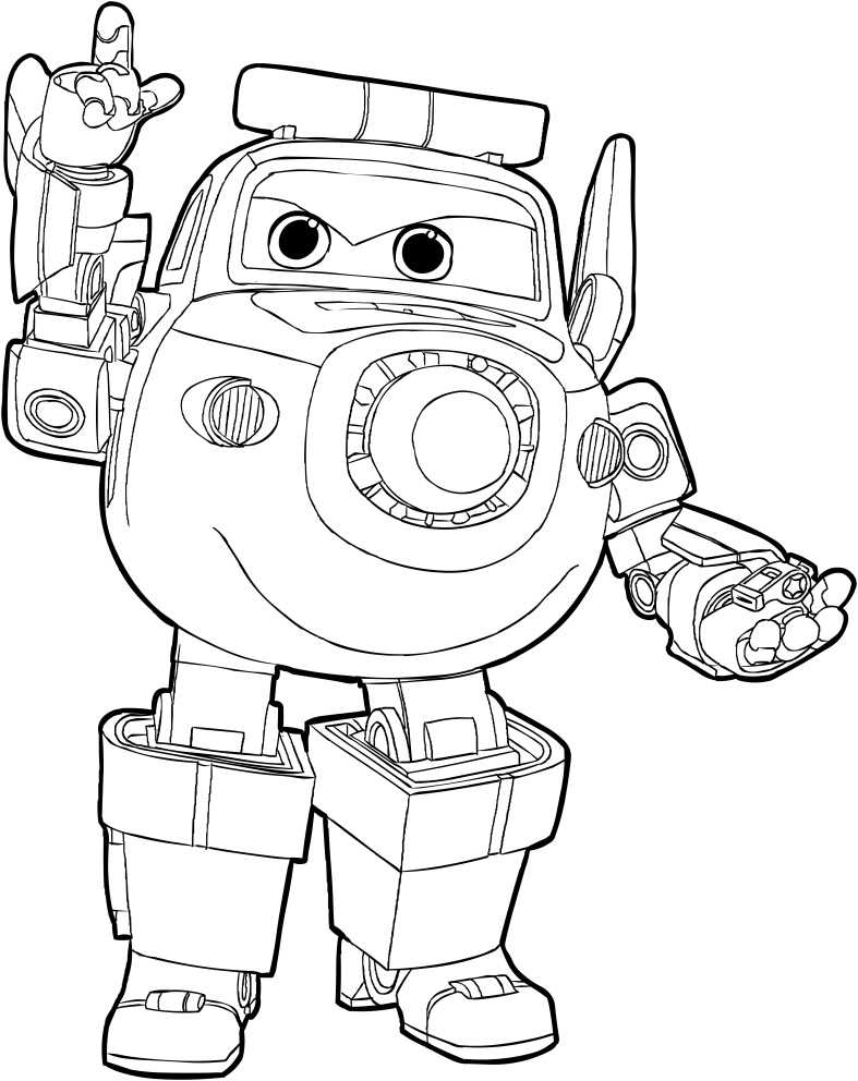 Paul of the Super Wings coloring page