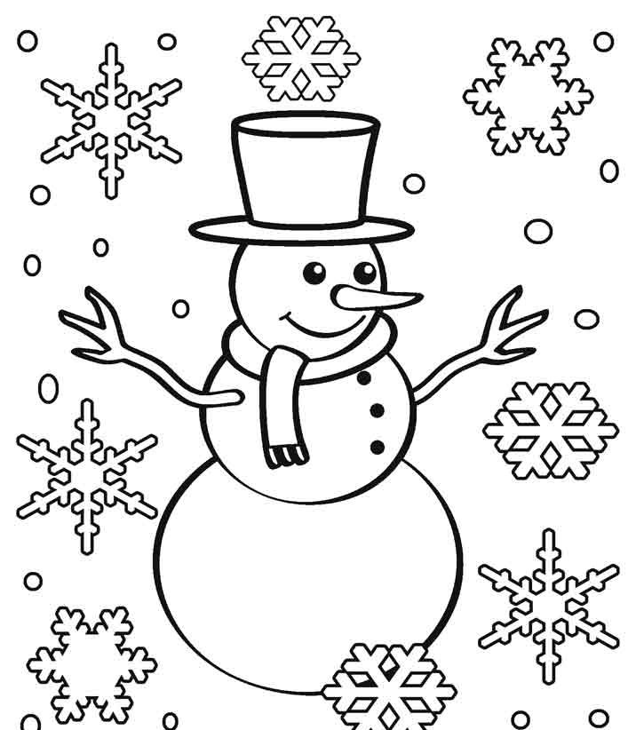 Printable Snowflake Coloring Pages for Kids e1542198507509