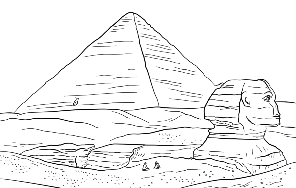 sphinx, keops, egyptian pyramid, 7 wonders