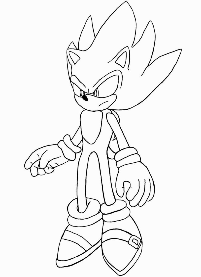 Super Sonic Coloring Pages Sonic The Hedgehog