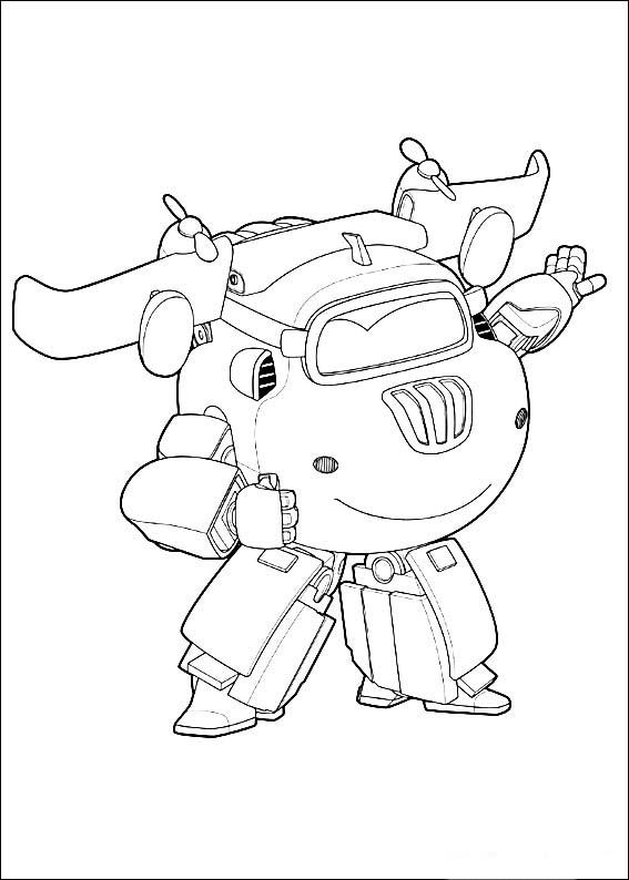 Super Wings Coloring Pages 4 1