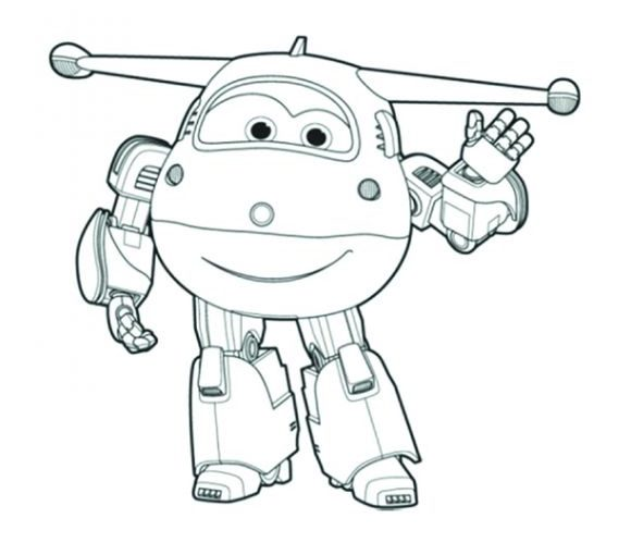 Super Wings free coloring image pages