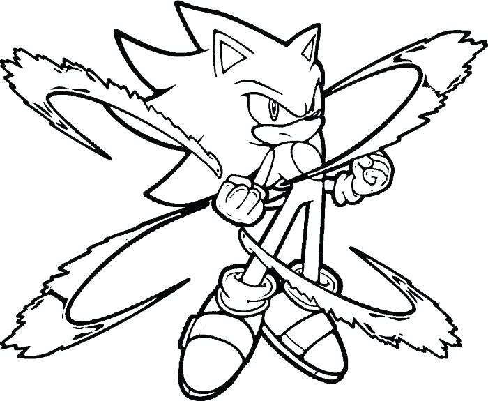 free printable super sonic coloring pages