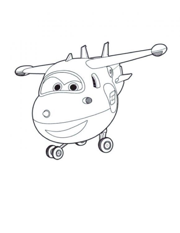 jett coloring pages super wings 1
