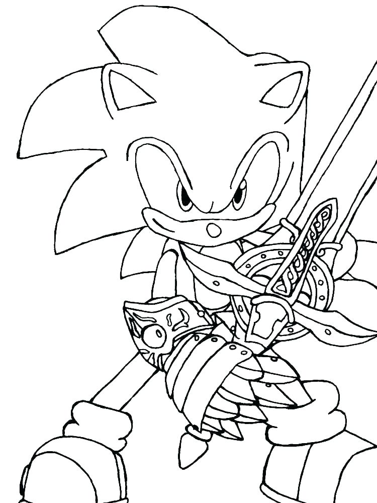 Super Sonic Coloring Pages Only