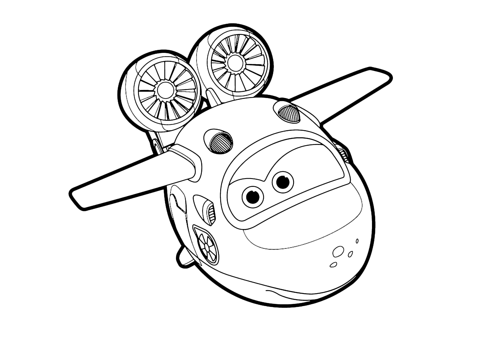 super wings Mira flying over the sea coloring