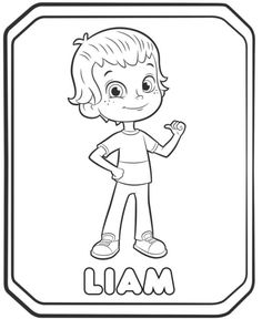0950923589345 Rusty Rivets Liam Coloring Pages