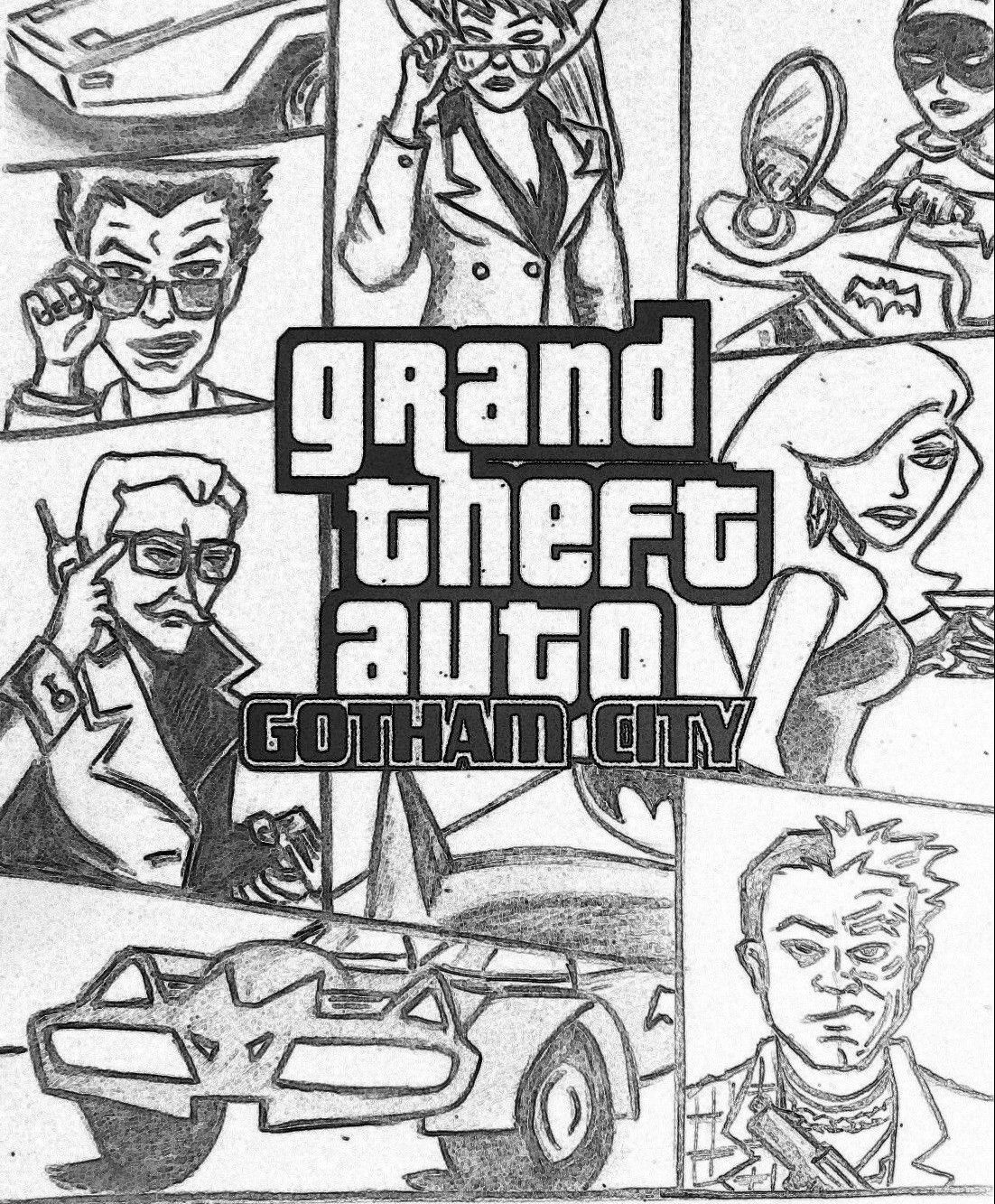 23948123948234 GTA 5 Coloring Pages Gotham City to Print Out e1543970412799