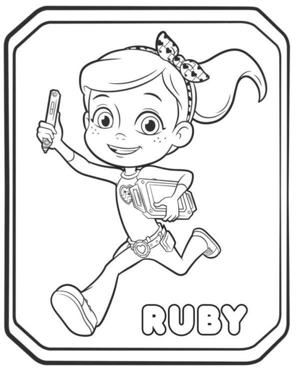 293482938402 Rusty Rivets Ruby Coloring Pages