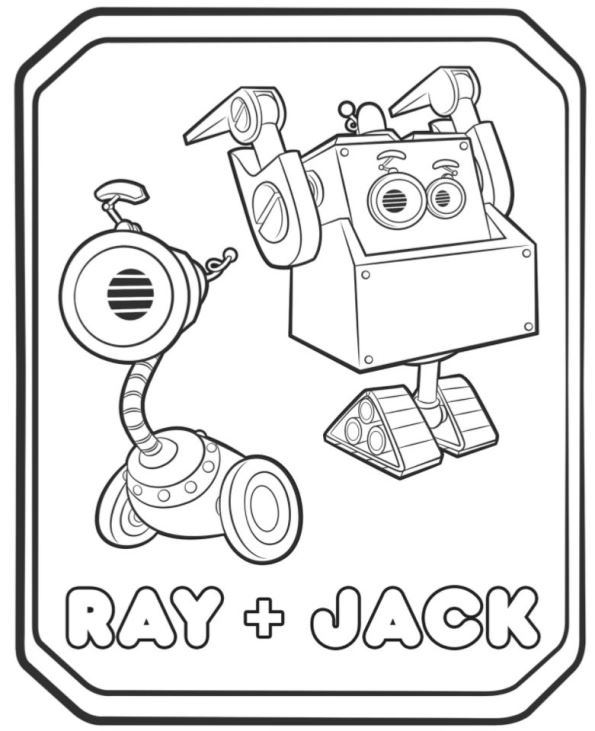 5932095834958 Rusty Rivets Ray and Jack Coloring Pages