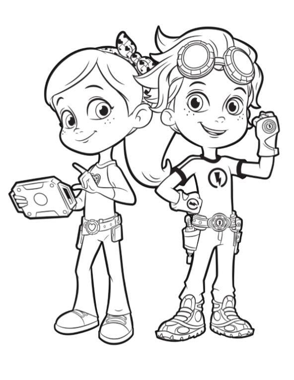 rusty rivets coloring sheet, rusty rivets coloring book, free rusty rivets coloring pages