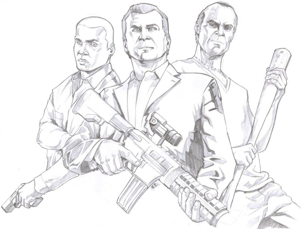 gta 5 printable coloring pages