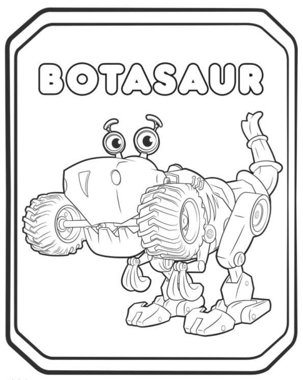 987598742394 Rusty Rivets Botasaur Coloring Pages