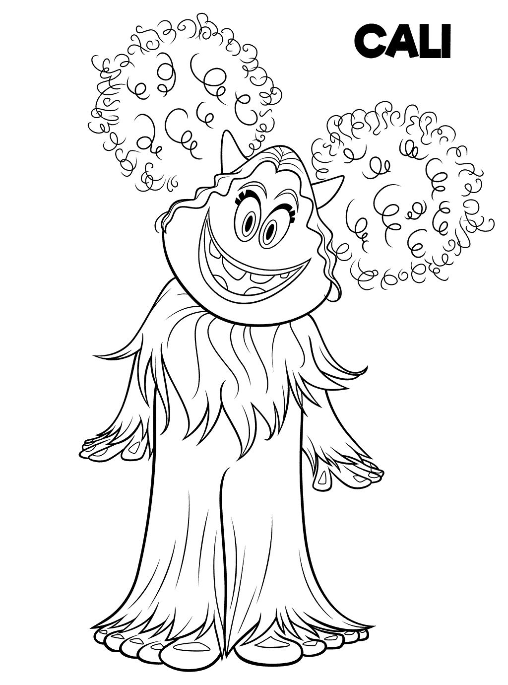 Smallfoot Cali Coloring Pages
