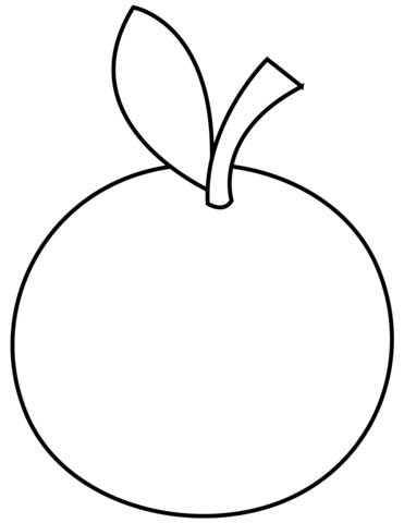 basic Orange coloring page