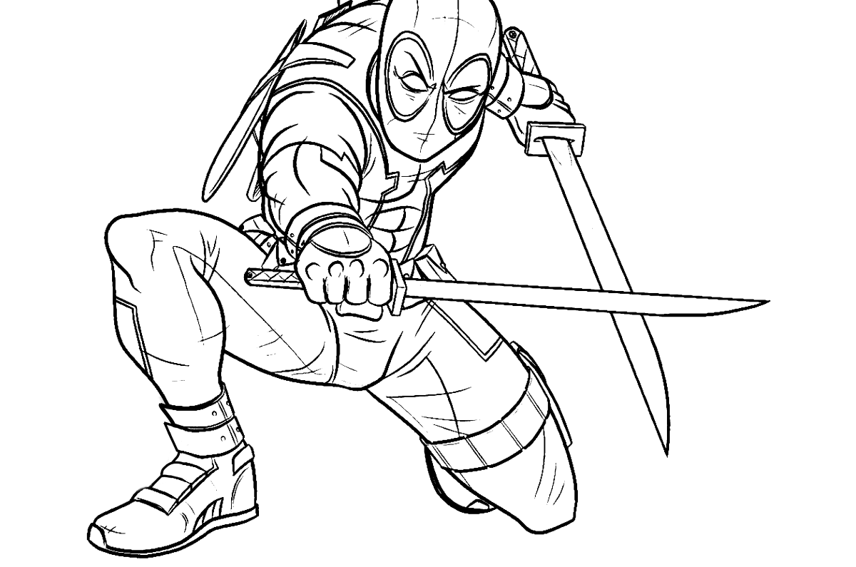 Deadpool 2 Kids Coloring Pages