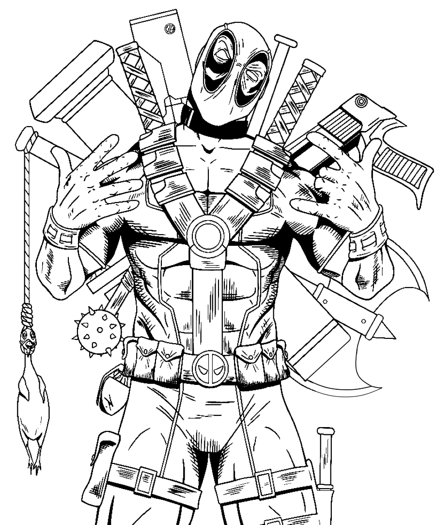 Deadpool 2 Movie Coloring Pages Free Coloring Pages