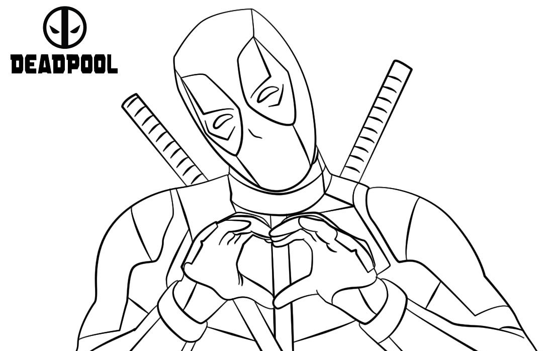 Deadpool 2 Printable Coloring Pages Free Coloring Pages