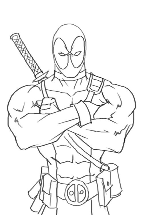 Free Deadpool 2 Coloring Pages Online