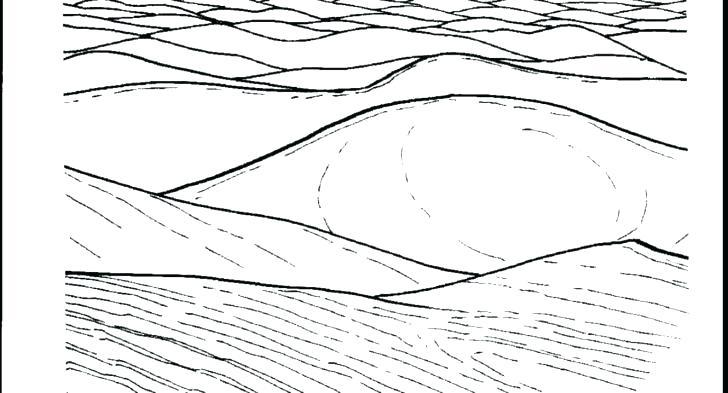 Sahara Desert Foggy Day Coloring Pages