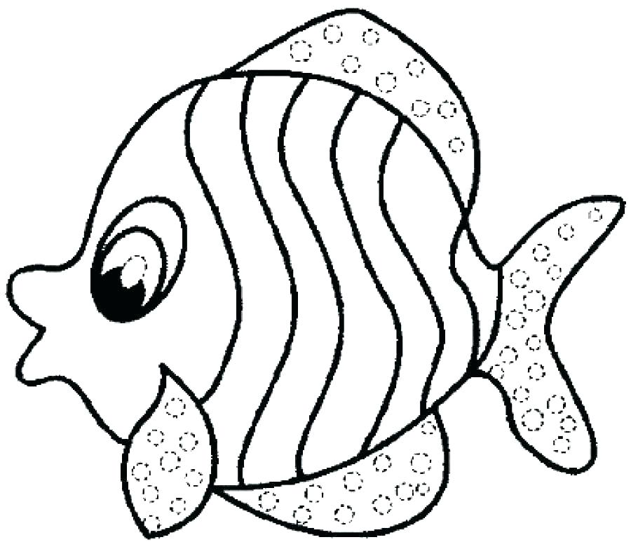 Coloring Pages For 3 Year Olds Fish