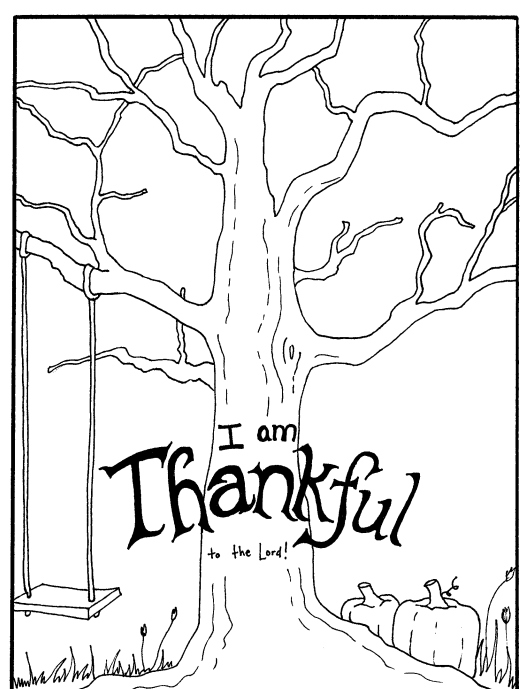 I Am Thankful Coloring Page 01 Free Coloring Pages Printable