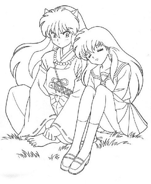 cosplay coloring pages, anime coloring pages