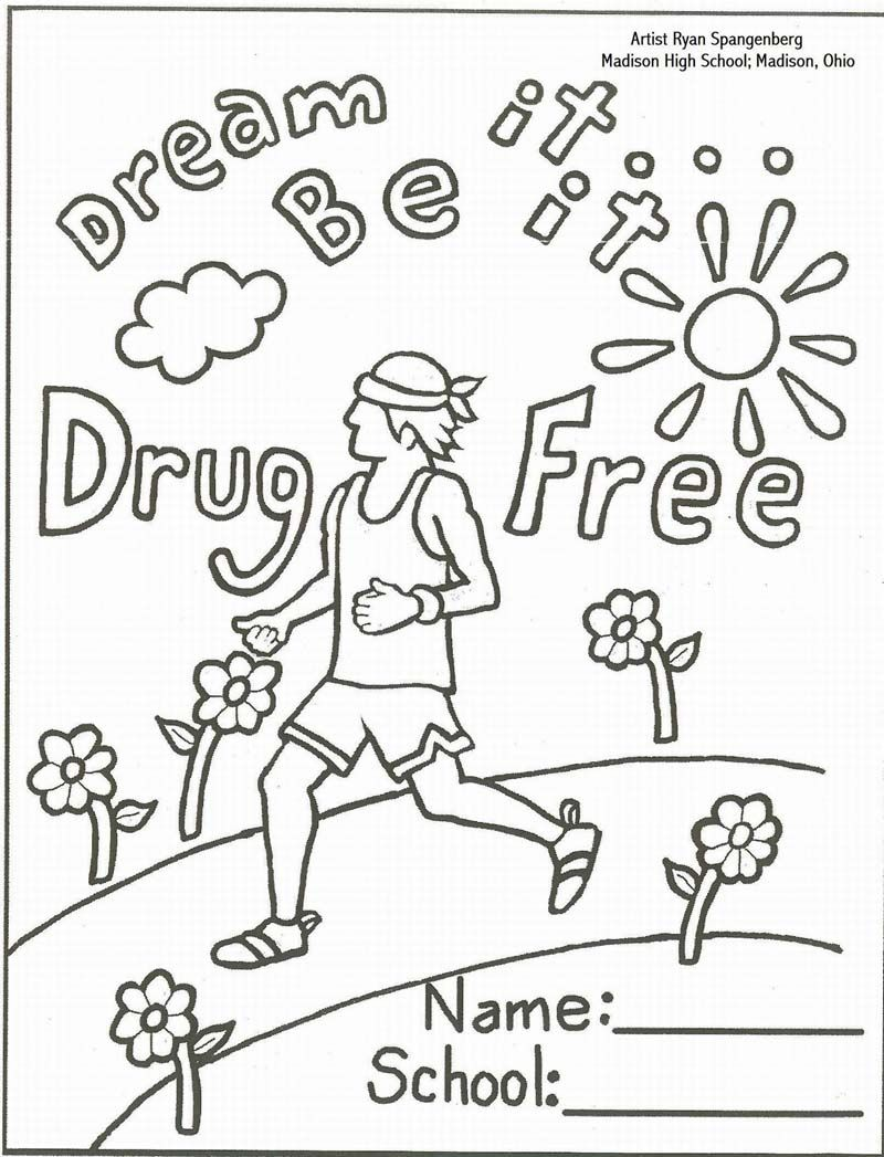 say no to drugs printables, red ribbon week activities, drug coloring pages for adults