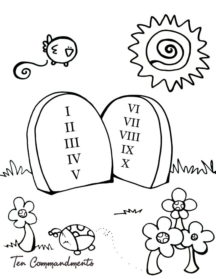 10 Commandments Coloring Page Sunday School Coloring