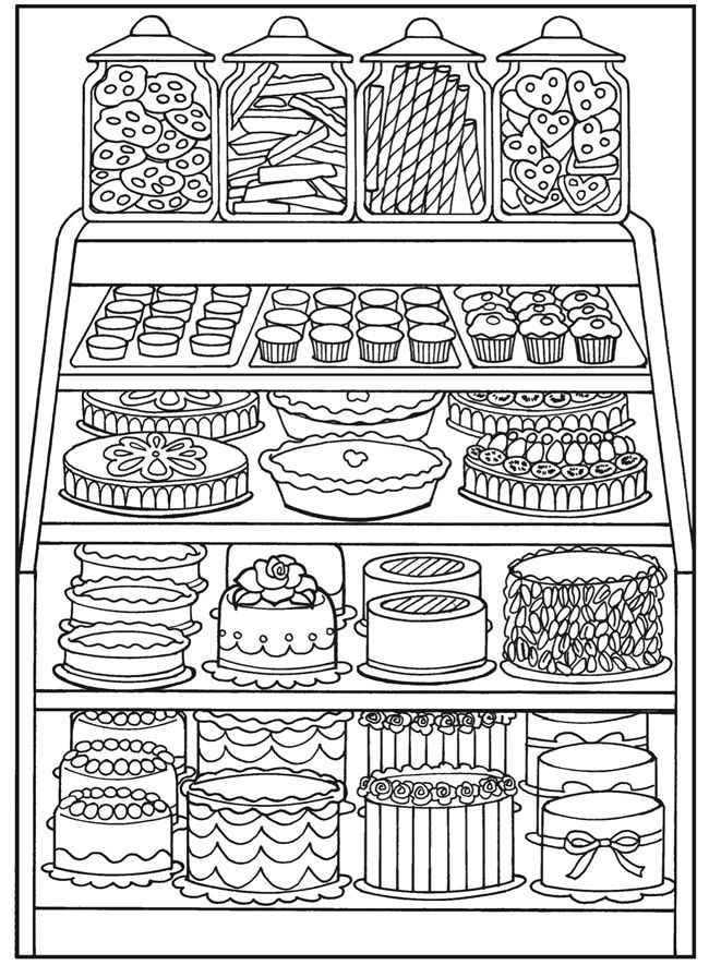 Bakery Store Coloring Pages for Adults