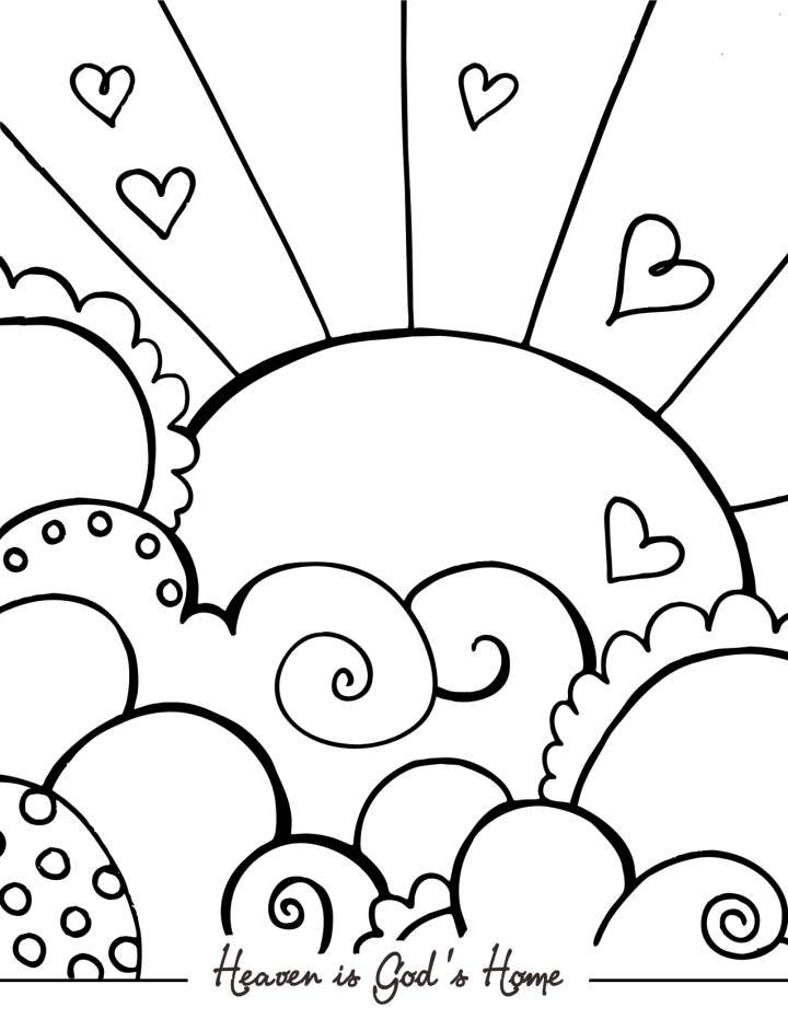 Bible Coloring Pages Heaven is Gods Home