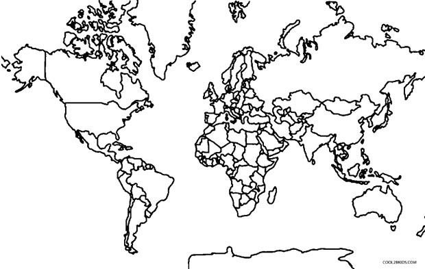 Blank World Map Coloring Sheet