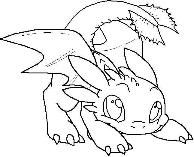 Cute Baby Crocodile Toothless Coloring Pages