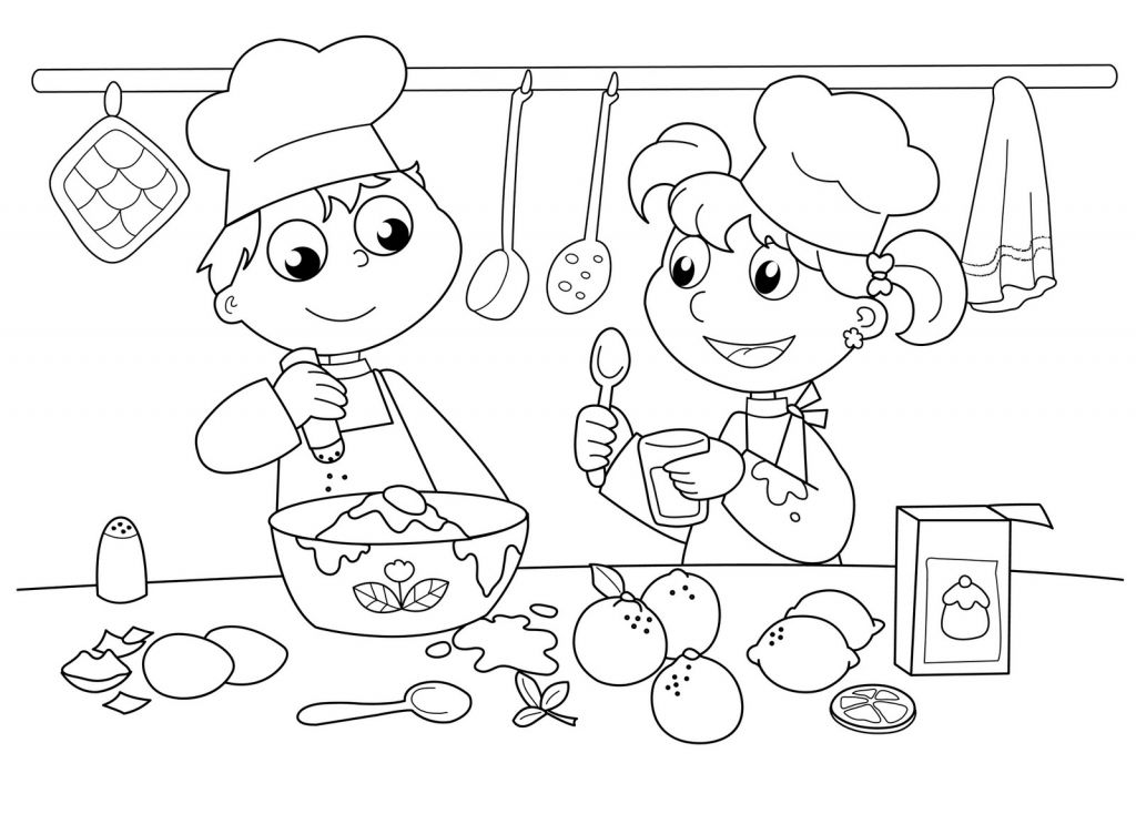 Free Printable Fun Coloring Pages of Bakery