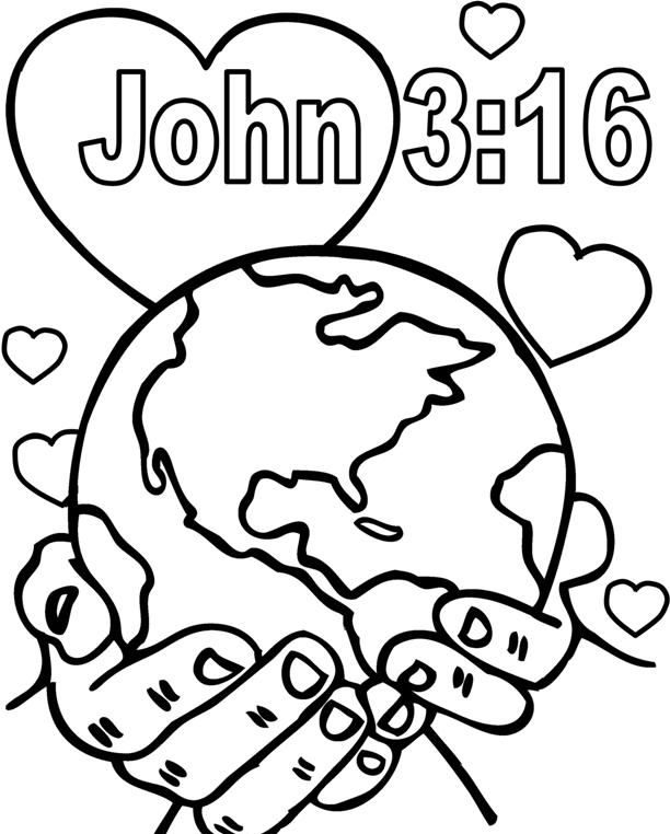 God So Loved The World Coloring Pages