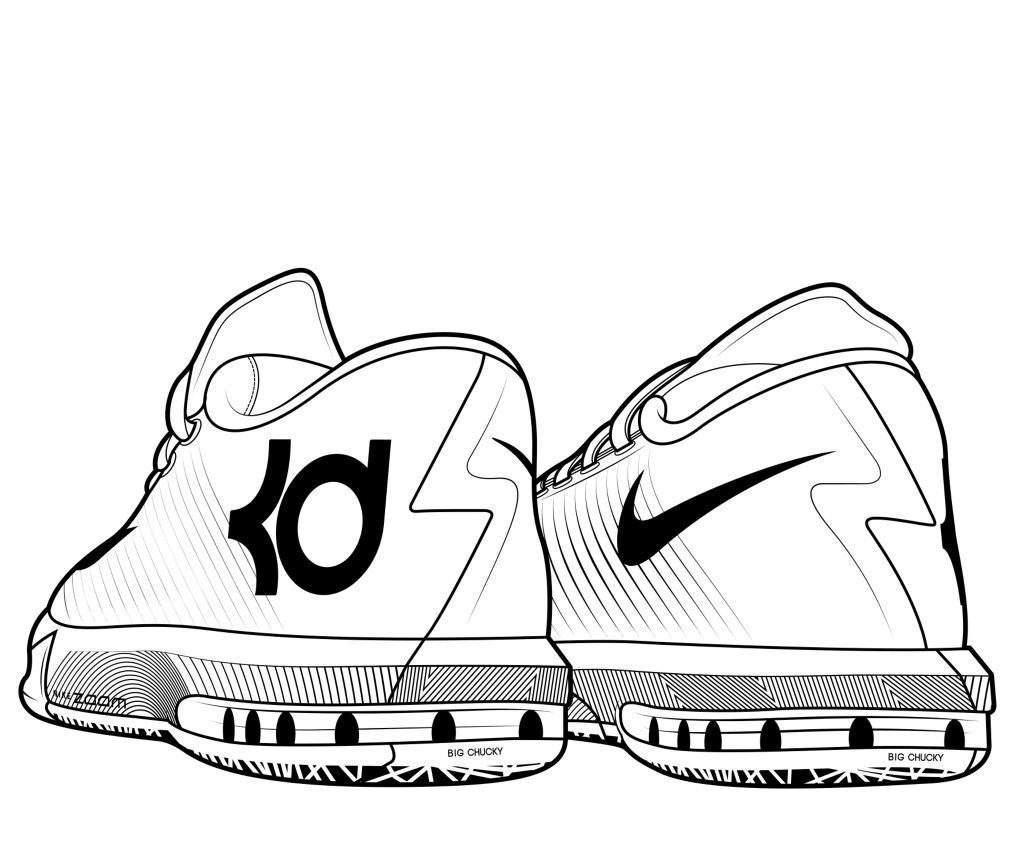 Kevin Durant KD Coloring Page